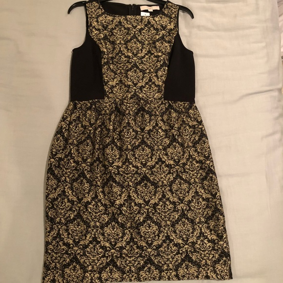 LOFT Dresses & Skirts - LOFT Black & Gold Dress